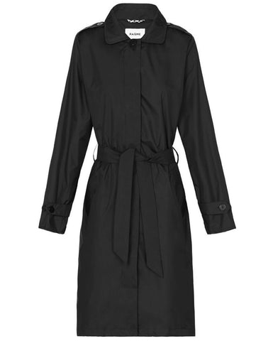 Black Trench Raincoat