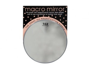Macro mirror with suction cups