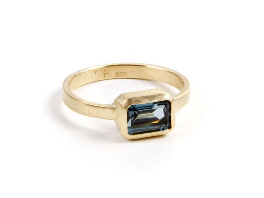 Samara London Blue Topaz Deco Ring