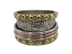 Spinner Ring three tone