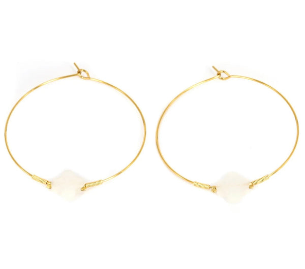 Clover Hoop Earrings