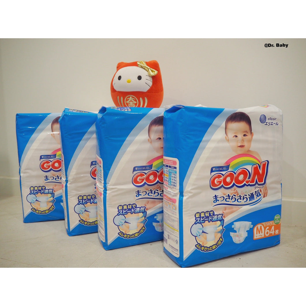 GOO.N Open type Size M(6~11kg) 4 packs
