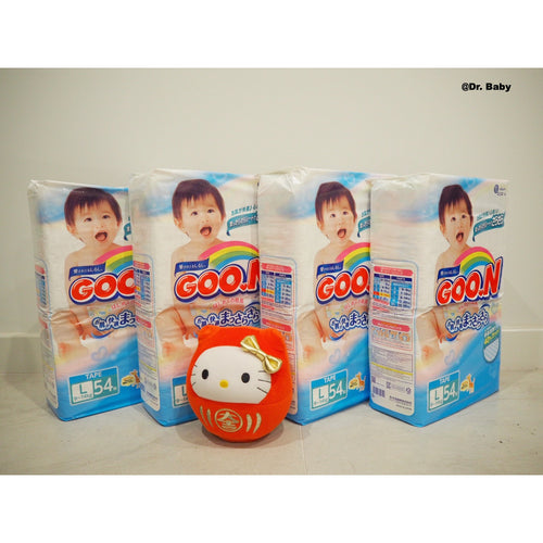 GOO.N Nappy Open type Size L(9~14kg) 4 packs