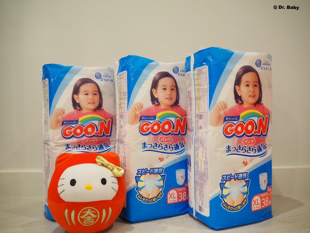 GOO.N Pull up type Size XL(12~20kg) For girls 3 packs