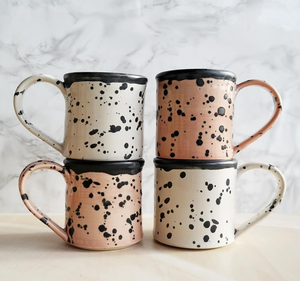 Pink/White Speckled Mug