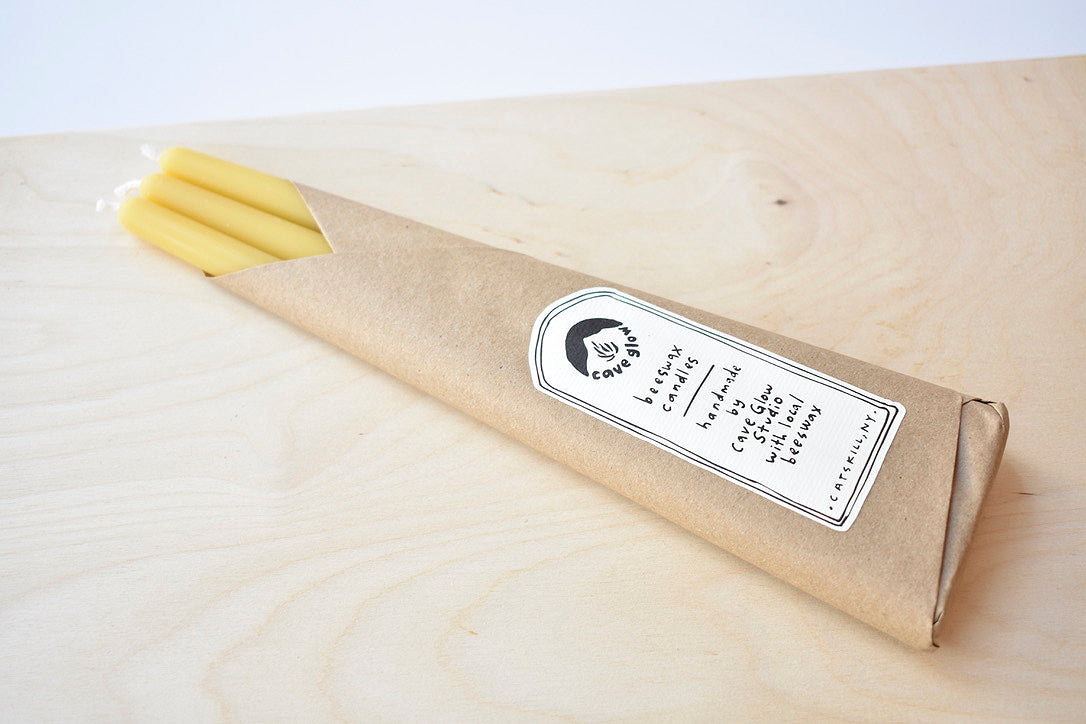 Pure Beeswax Taper - Set of 3