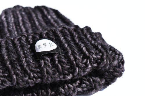 Fisherman Beanie in Black