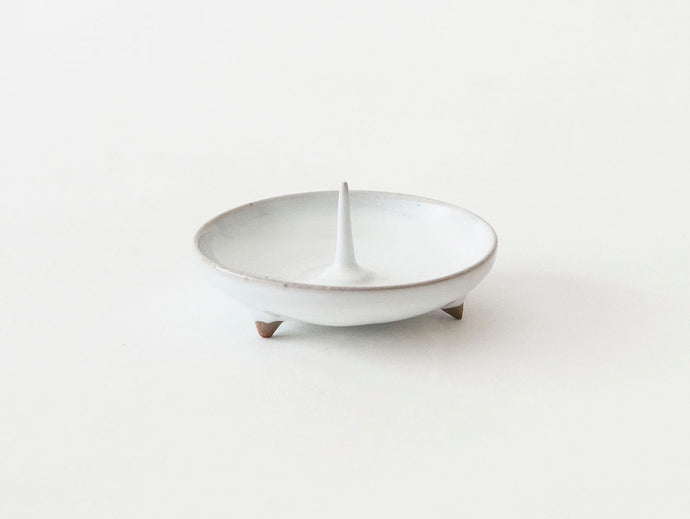 Japanese candle holder in white
