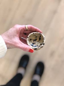 Swedish Speckled Pinch Pot