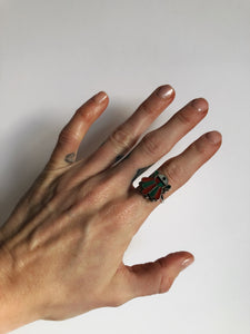 Vintage Zuni inlay ring