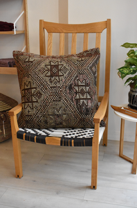 Oversized Autumn browns kilim pillow