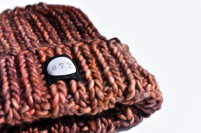 Fisherman Beanie in mixed Mauve