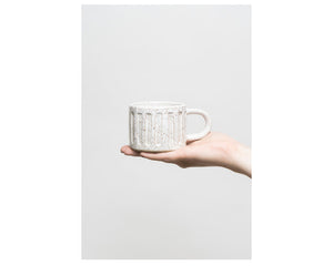 Carved retro mug