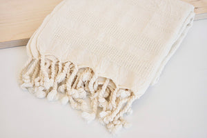Organic Turkish Towel in Soft Biege
