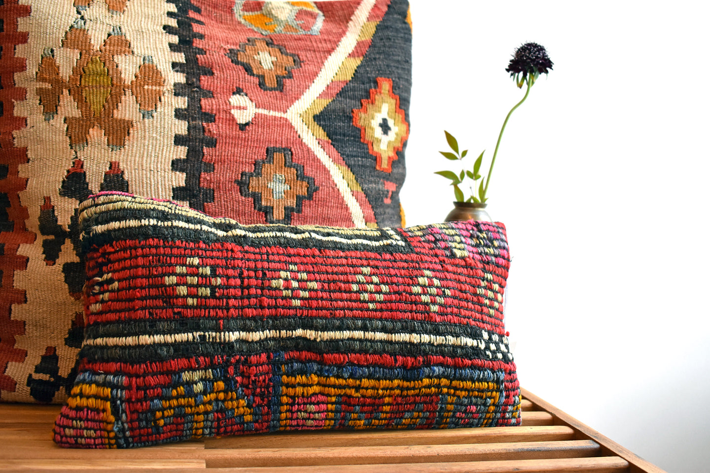 Pink Watercolor Kilim Pillow