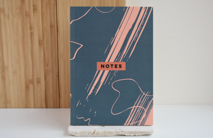 Steel Blue Scribble Notebook