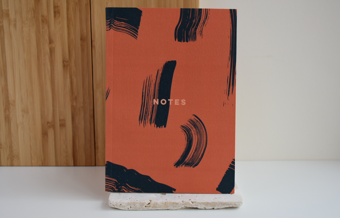 Burnt Peach Brush Notebook