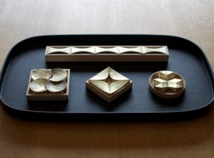 Japanese Brass Chopstick Rests - Flash