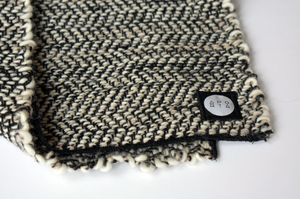Worker Bandana Scarf in Montana Wool Works, Brown/White
