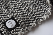 Worker Bandana Scarf in Montana Wool Works, Grey/White