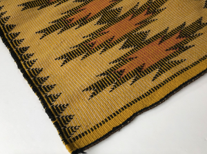 Vintage Navajo Raised Outline Rug