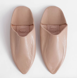 Moroccan Pointed Slipper in Nude
