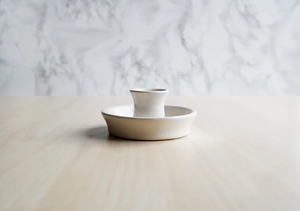 White Minimalist Candle Holder