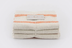 Set of 3 Cotton Cloths in Orange