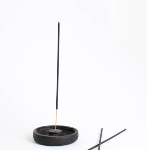 Blackened Incense Holder