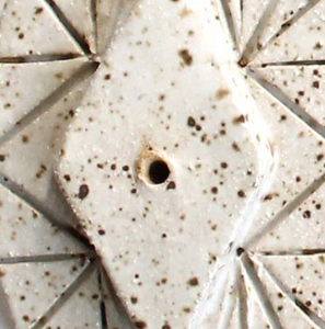 White Circle Ceramic Incense Burners
