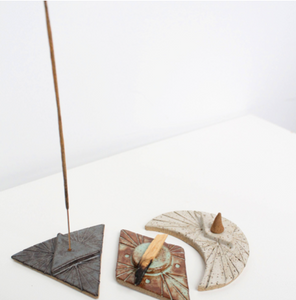 Triangle Grey Incense Holder