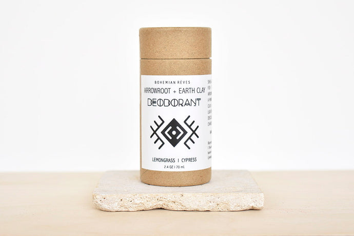 Arrowroot and Earth Clay Deodorant in Lemongrass/ Cypress