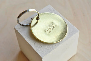"Large ""Babe"" Brass Key Chain"