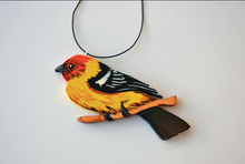 Hand panted western tanager ornament