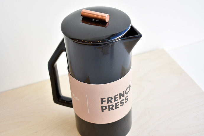 Ceramic French Press - Black