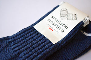 Japanese blue silk cotton socks