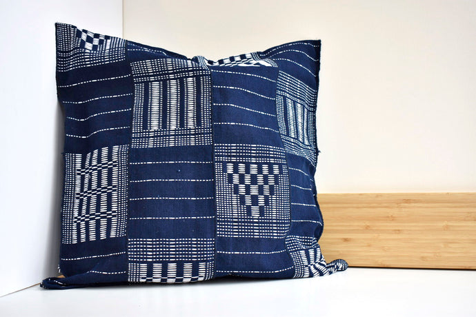 Artisanal Pillow in Blue Marine