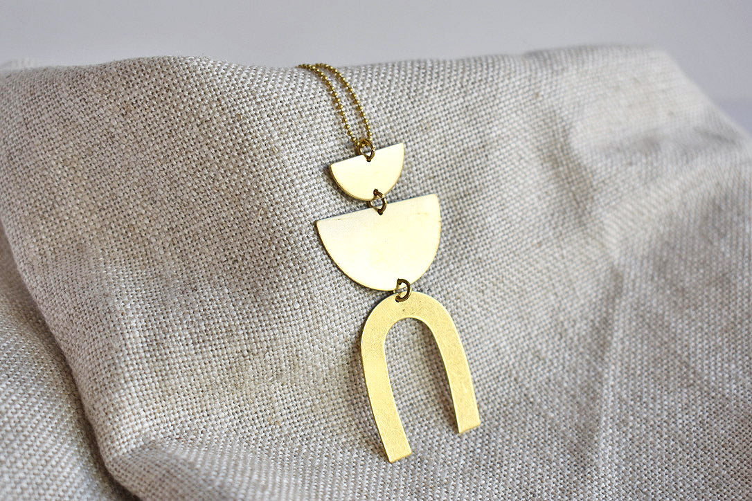 Arch & Semicircles Necklace