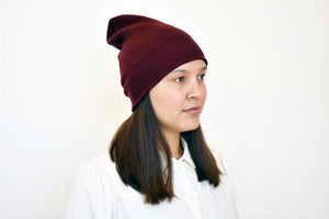 Slope Beanie in Burgundy