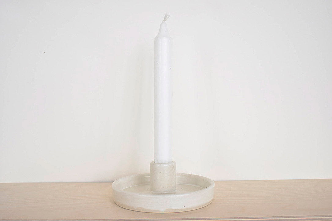 White Candle Stick Holder