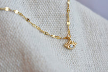Clear Eye Charm Necklace