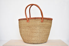 Handwoven Market Basket in Beige