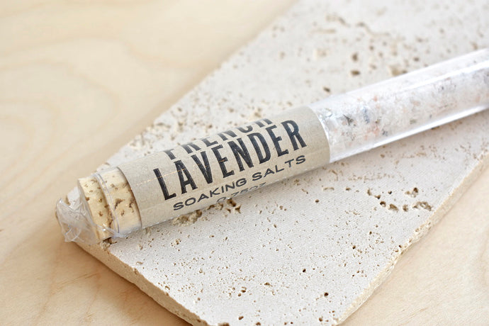 French Lavender Bath Salt Tube