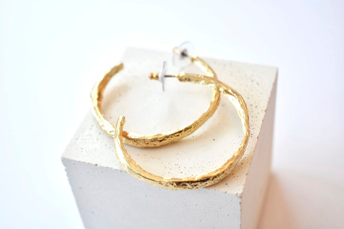Large Reality of Travel Hoop Earrings