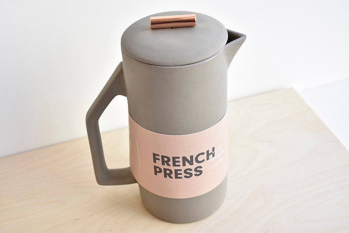 Ceramic French Press - Gray