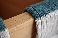 Japanese green wool cotton slab socks