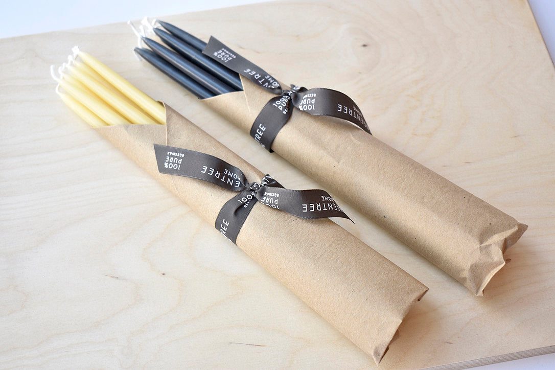 Set of 10 Thin Taper Candles