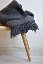SAAGA UNI Mohair Blanket in Smoke
