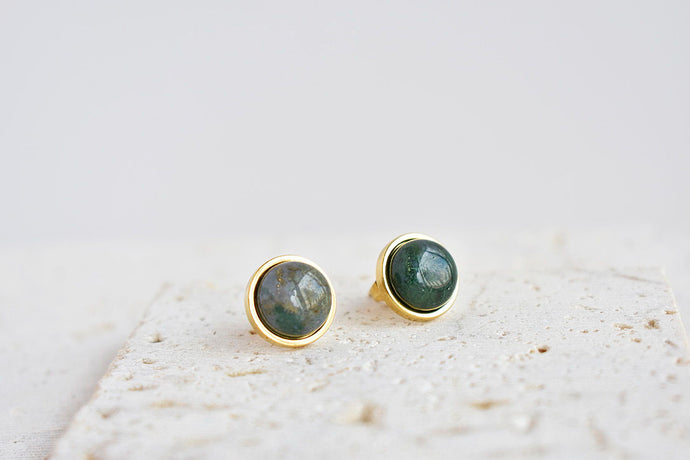 India Agate Stud Earrings