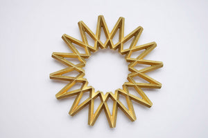Japanese Brass Galaxy Trivet